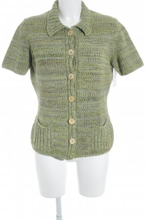Marc Cain Short Sleeve Knitted Jacket pale green fluffy