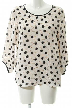Marc Cain Langarm-Bluse grafisches Muster Casual-Look