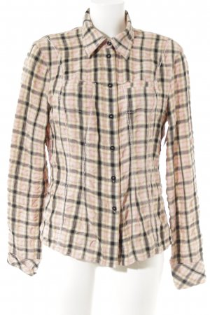 Marc Cain Langarm-Bluse Karomuster Casual-Look