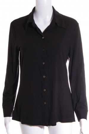 Marc Cain Langarm-Bluse schwarz Casual-Look