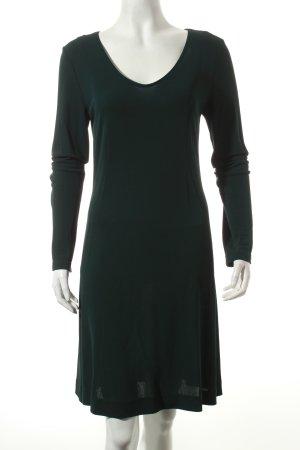 Marc Cain Langarmkleid dunkelgrün Eleganz-Look