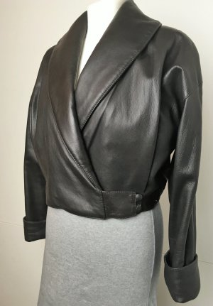 Marccain Blouson dark brown leather
