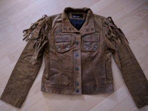 Marc Cain Leder Jacke Indian Western Style