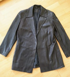 Marc Cain Long Blazer black leather