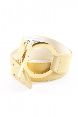Marc Cain Leather Belt gold-colored-dark yellow elegant