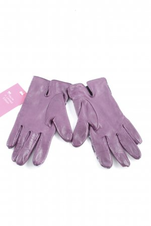 Marc Cain Leather Gloves dark violet street-fashion look