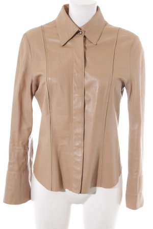 Marc Cain Leather Shirt beige casual look