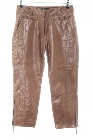 Marc Cain Leather Trousers brown casual look