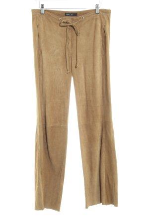 Marc Cain Pantalone in pelle color cammello stile casual