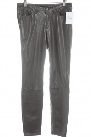 Marc Cain Leather Trousers grey brown street-fashion look