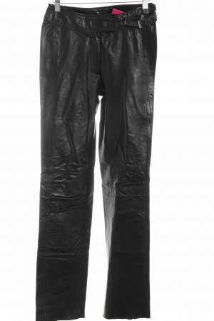 Marc Cain Leather Trousers black casual look