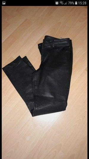 Marc Cain Leren broek zwart