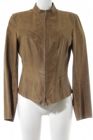 Marc Cain Leather Jacket light brown street-fashion look