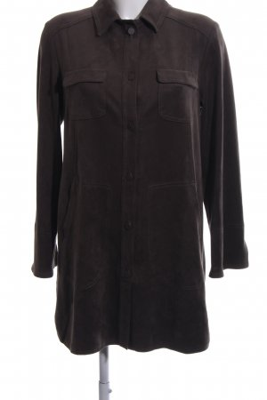 Marc Cain Leren jurk bruin klassieke stijl