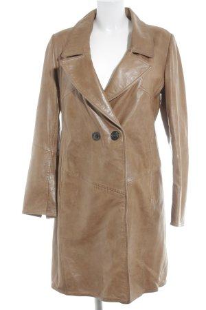 Marc Cain Leather Coat light brown elegant