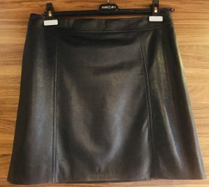 Marc Cain Leather Skirt black