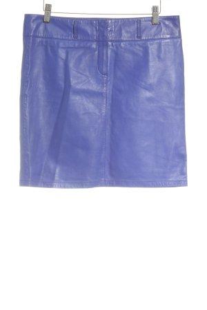 Marc Cain Lederrock blau Casual-Look