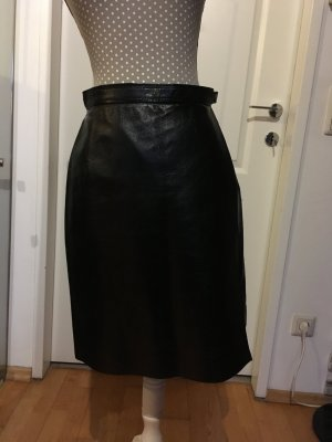 Marc Cain Leather Skirt black leather