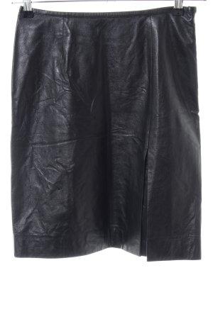 Marc Cain Leren rok zwart casual uitstraling
