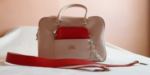 Marc Cain Bowling Bag pink-red leather