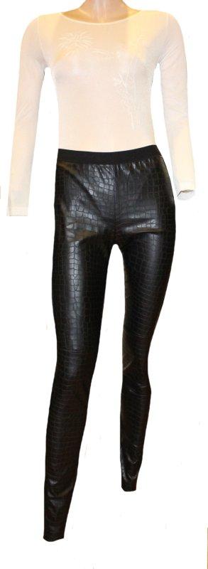 Marc Cain Leggings black imitation leather