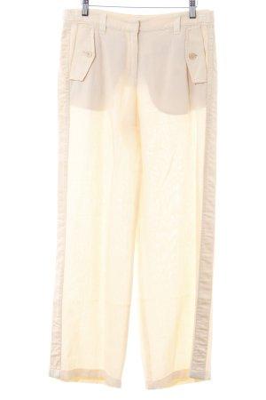 Marc Cain Pantalón de lino amarillo claro estilo clásico