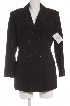 Marc Cain Long-Blazer schwarz Nadelstreifen Business-Look