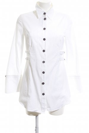 Marc Cain Long-Bluse weiß Business-Look