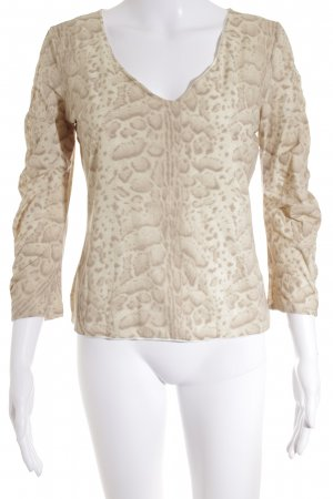 Marc Cain Longsleeve creme Leomuster Casual-Look