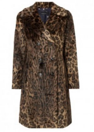 Marc Cain Fake Fur Coat multicolored