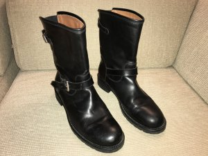 Marc Cain Slouch Booties black leather