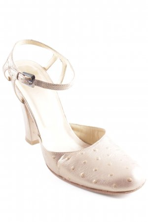 Marc Cain Tacones Mary Jane color oro estampado a lunares reluciente