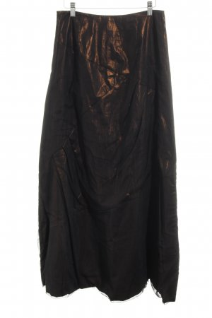 Marc Cain Maxi Skirt black-bronze-colored elegant