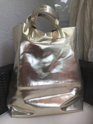 Marc Cain Metallic  Gold Bag Damen Handtasche Schulter Beutel Tasche Neu