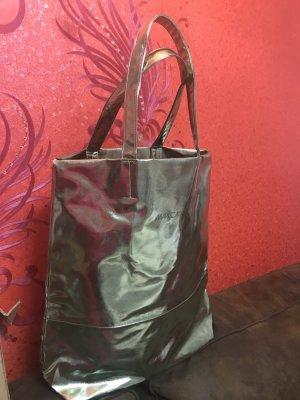 Marc Cain Metallic Grün Gold Bag Damen Handtasche Schulter Beutel Tssche Neu