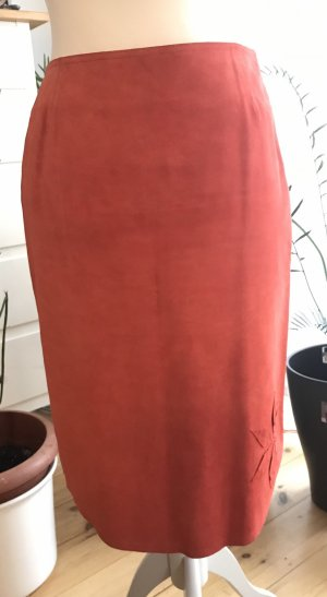 Marc Cain Leather Skirt salmon