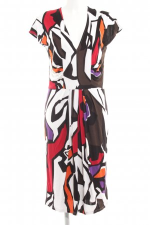 Marc Cain Midi Dress abstract pattern retro look