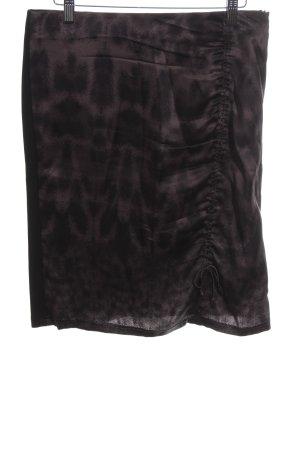 Marc Cain Midi Skirt black-brown leopard pattern casual look