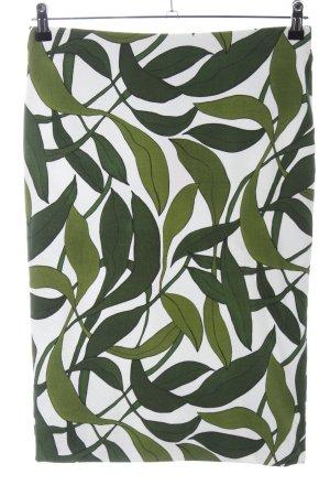 Marc Cain Midirock weiß-grün Blumenmuster Casual-Look