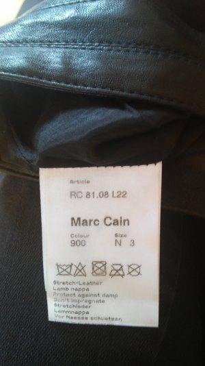 Marc Cain Must-have Stretch- Lederhose echtes Leder GR. 38, schwarz marccain