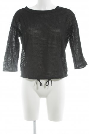 Marc Cain Mesh Shirt black casual look