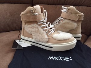 Marc Cain High Top Sneaker beige-natural white leather