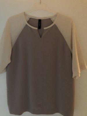 Marc Cain Oberteil Shirt Bluse 3/4 Arm aus Seide Gr. 36 Np 249 Euro