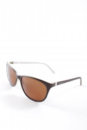 Marc Cain ovale Sonnenbrille weiß-braun Casual-Look