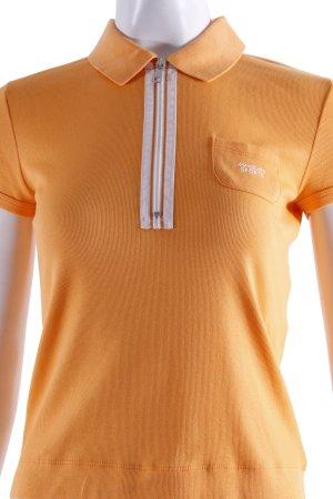 Marc Cain Poloshirt orange mit Reißverschluss