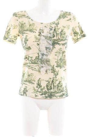 Marc Cain Print-Shirt creme-grün Allover-Druck Casual-Look