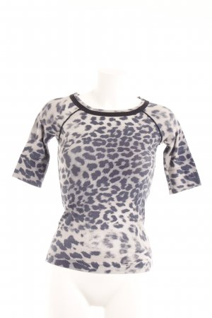 Marc Cain Print-Shirt dunkelblau-creme Leomuster Casual-Look