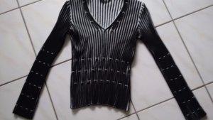 MARC CAIN Pullover Wolle beige schwarz Wunderschön Gr .N5 /40