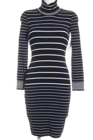 Marc Cain Sweater Dress white-black striped pattern casual look
