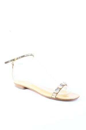 Marc Cain Riemchen-Sandalen goldfarben klassischer Stil